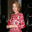 Kylie Minogue Dolce Gabbana Christmas Tree Party At Claridges Hotel In London