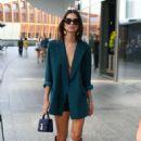 Emily Ratajkowski in Green Blazer – Out in Milan