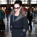 Dita Von Teese departing on a flight at LAX airport in Los Angeles, California on March 22, 2015 - 441 x 600