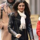 Victoria Justice Outside Siriusxm Studios In Ny