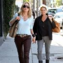 Sharon Stone: stopping by Salon Benjamin in West Hollywood