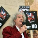 Brian May leads an anti-fox hunting rally for PETA on July 14, 2015 in London, England. - 454 x 302