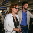 Susan Sarandon Arriving at Airport in Nice