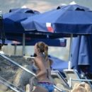 Gizem Karaca was spotted on a beach in Bodrum (July 13, 2016)