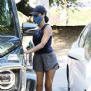 Lucy Hale – Seen after evening hike in Los Angeles