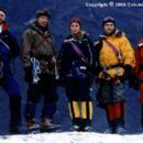 The talented cast of the Columbia Pictures presentation Vertical Limit (2000) includes (from left to right) Bill Paxton ('Elliot Vaughn'), Scott Glenn ('Montgomery Wick'), Izabella Scorupco ('Monique'), Chris O'Donnell ('Pe