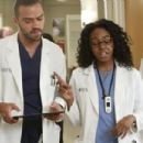 Jerrika Hinton and Jesse Williams