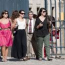 Lea Michele takes a break from Paris Fashion Week to visit the Palace of Versailles with some friends