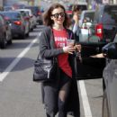 Lily Collins Leaves workout in Beverly Hills - 454 x 623