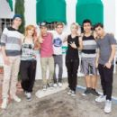 Bella Thorne hits the dance studio with boyband iam5 to practice their moves - 454 x 303