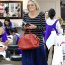 Sharon Stone at nail salon in Los Angeles