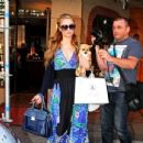 Paris Hilton In Long Dress Out In La