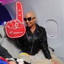 Amber Rose attends the Launch of Virgin America's First Flight from Los Angeles to Philadelphia at Los Angeles International Airport in Los Angeles, California - April 4, 2012 - 454 x 477