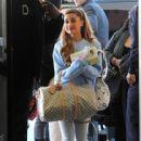 Ariana Grande arrives at LAX Airport on December 9, 2013
