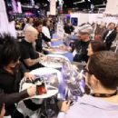 Frank Bello, Scott Ian & Steve Stevens at NAMM 2014 On January 25, 2014 in Anaheim, CA