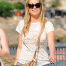 Laura Whitmore In Jeans Shorts Out In Ibiza
