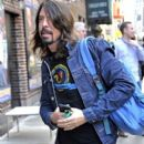 Foo Fighters singer Dave Grohl drops by 'The Late Show With David Letterman' on October 16, 2014 in New York City, New York
