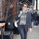 Milla Jovovich – Leaves her hotel in New York - 454 x 681