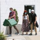 Ana De Armas – Looks cute in summer dress with Ben Affleck at Nick Fouquet hat shop in Venice - 454 x 366