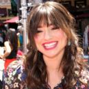 """Crystal Reed: an appearance on """"Extra"""" at the Grove in Los Angeles"""