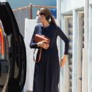 Angelina Jolie with her son Knox on Wacko and Blue Rooster art supplies in LA