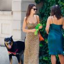 Emily Ratajkowski – In summer dress out with a friend in NYC