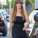 Sofia Vergara in Black Long Dress Out in West Hollywood
