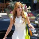 Bella Thorne attended an interview at the Grove in Los Angeles, California on July 10, 2012 for the Extra - 396 x 594