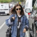 Lily Collins – Leaves her workout session in Beverly Hills
