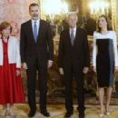 King Felipe and Letizia host a lunch for literature world members - 454 x 303