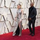 Brie Larson and Samuel L. Jackson attend the 91st Annual Academy Awards - Arrivals - 454 x 303