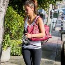 Brenda Song stops by a gym for a workout in West Hollywood, California on January 4, 2014