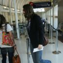 Chris Robinson catching a flight at LAX