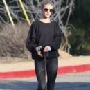 Rosie Huntington Whiteley In Spandex Out In Los Angeles