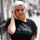 Bebe Rexha – Arrives at Kiss Fm Studios in London