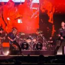 Robert Trujillo, Kirk Hammett, Lars Ulrich and James Hetfield members of the band Metallica performs live on stage at Autodromo de Interlagos on March 25, 2017 in Sao Paulo, Brazil - 454 x 303