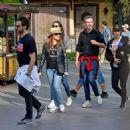 Jessica Chastain and her husband Gian Luca Passi de Preposulo at Disneyland - 454 x 456
