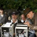 (Left to right) Cate Blanchett, director Steven Spielberg, producer Frank Marshall and Harrison Ford on the set of 'Indiana Jones and the Kingdom of the Crystal Skull.' Photo Credit: David James. ™ & © 2008 Lucasfilm Ltd. All Rights Reserved. Used
