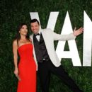 Seth MacFarlane & Lauren Sanchez Attend the 2012 Vanity Fair Oscars After Party, 2/26/12
