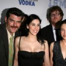 Sarah Silverman - Shown With Her Sister, Laura, Jay Johnston And Jimmy Kimmel. Don't Know Who The Third Guy Is.