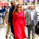 Amy Adams – Leaving 'Good Morning America' in New York