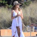 Alessandra Ambrosio– Beach in Ibiza 7/1/2016 - 454 x 650