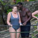 Iskra Lawrence and Philip Payne at Mountain Creek Water Park in New Jersey