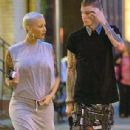 Amber Rose and Machine Gun Kelly at Cafe Felix in SoHo, New York - May 10, 2015