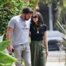 Ana De Armas and Ben Affleck – Walking their pooch while out on a stroll in Venice Beach