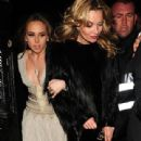 Kate Moss is seen attending Philip Green's birthday party held at Mosimann's in London.