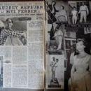 Audrey Hepburn and Mel Ferrer - Cine Tele Revue Magazine Pictorial [France] (3 July 1959) - 454 x 308