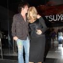 Musician Tracii Guns leaves Katsuya restaurant after having dinner in Hollywood - 438 x 594