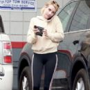 Emma Roberts at a gas station in Beverly Hills