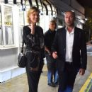 Eva Herzigova at Tetou restaurant in Cannes